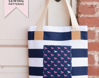 Derby Tote Bag PDF Sewing Pattern