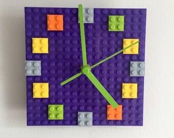 Upcycled Lego Clock