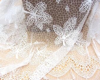 maple leaf lace fabric, Chantilly Lace,black lace-1.4m*1.4m