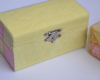 Battenburg Wooden Trinket/Jewellery Box