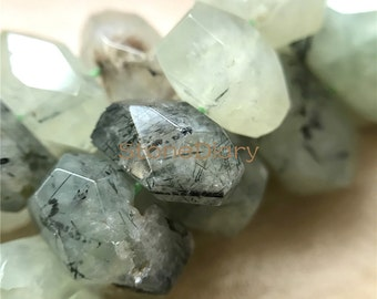 Prehnite Nuggets Beads, Stone Nugget Beads,Terminated Stone Nuggets Beads Full Strand A16121940