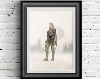 0176 Star Wars Rogue One Jyn Erso Poster A3 Wall Art Print Multiple Sizes