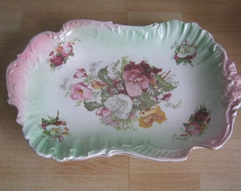 Barkers and Kent Floral Platter c1898-1940
