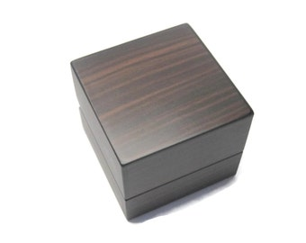 Zebra Wood Engagement Ring Box