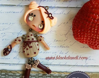 Puppet doll necklace with Swarovski