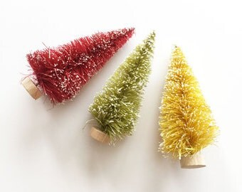 "SALE! 3"" Bottle Brush Trees from Fancy Pants - 3 Quantity (Item #2731)"