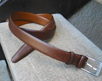 Men's Wearhouse Used Brown Leather Belt 40