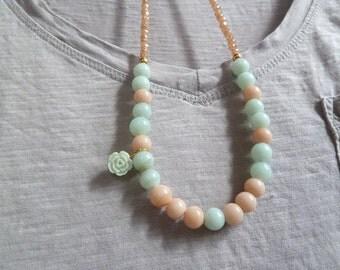 Bridesmaid Perlen Halskette in Pastelltönen Glas