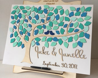 wedding guest book alternative 3d wood guestbook by signinstyle