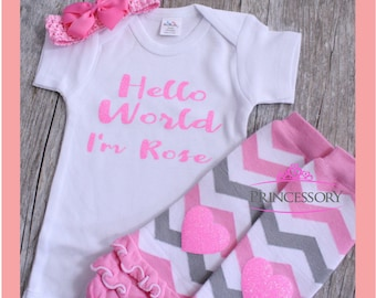 baby girl coming home outfit - Newborn Baby Girl Outfit - Newborn Baby Girl Coming Home Outfit - New Baby Gift - Take Home Outfit