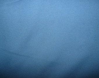 SALE - Fabric - cotton sweatshirt jersey fabric - denim - damaged, fade line down the fold.