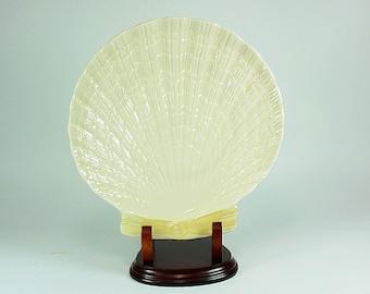 Belleek Shell Plate, Beleek Porcelain,Belleek Limpet Shell Design,Belleek Collectible,Belleek Kitchen,Belleek Home Decor,Belleek China