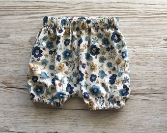 Floral Baby Bloomers / Nappy Cover