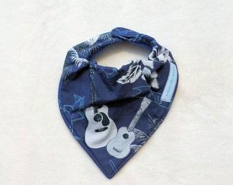 Bandana Bib 'Blue Guitar'