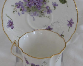 HAMMERSLEY VICTORIAN VIOLETS English Bone China Cup and Saucer