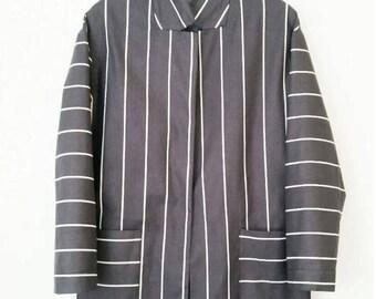 Pin Stripe Dropshoulder Springcoat