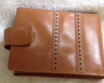 Vintage Princess Gardner Camel brown leather bifold wallet
