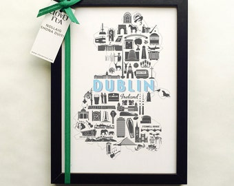 Framed Dublin Icons - This is the Perfect Gift for Lovers of the Fair City