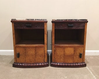 Pair Art Deco Side Tables C. 1930u0027s FREE Local Delivery!