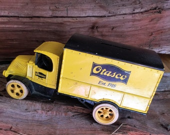Vintage. Otasco, 1918 Ford, Model T, Delivery Truck, Coin Bank, 1926 Bulldog