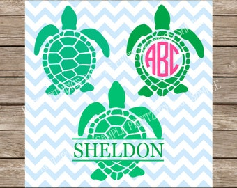 Turtles svg files Monogram Turtle svg Ocean svg Beach svg Summer svg Sea Turtle svg Turle Monogram svg Nautical svg sea life svg files dxf