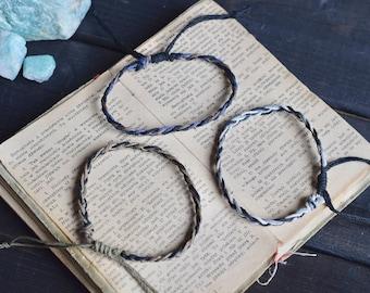 Braided Bracelet. Custom Colours. Hemp Bracelet. Anklet. Hippie. Boho Jewelry. Men's Bracelet.
