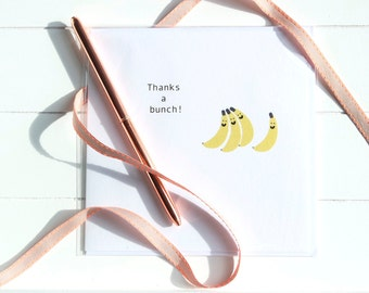 Banana Bunch Thank You Card
