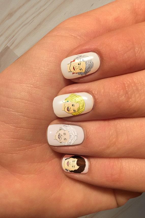 Stay golden handpainted golden girls nail art decals from for 3d nail art salon new jersey