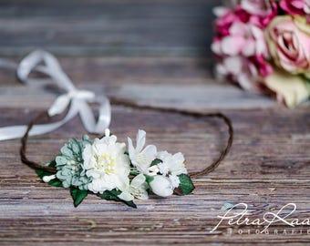 Flower wreath wedding hair accessories flower girl hair flower wedding flower wreath headband wedding boho A15