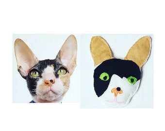 Custom Catnip Cat Toy Designed to look like your pet in soft felt with organic catnip