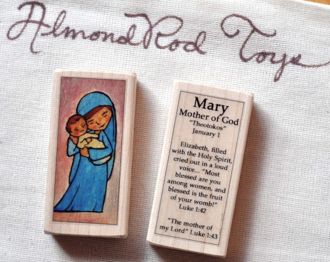 Mary, Mother of God Patron Saint Block