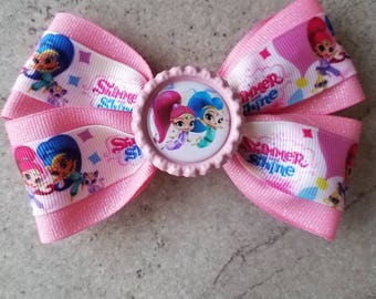Shimmer and Shine hair bow. Shimmer and Shine hair clip.