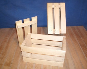 "10"" wood crate, wooden crate with lid, wood gift crate, gift box with lid, weeding gift crate"