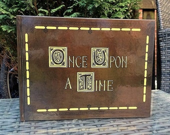 Once Upon a Time Scrapbook Guest Book, Photo Album or Scrapbook