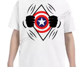 Captain America Inspired Youth Shirt