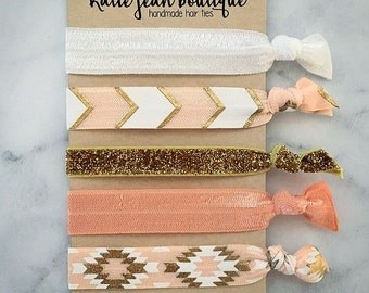 "Elastic Hair Ties - The ""Julia"" Collection"