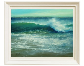 Painting, Oil painting, Art prints, Wall art, Gift for Girlfriend, Ocean Painting, Landscape painting, beach decor, Housewarming gift
