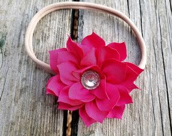Pink Flower Headband, Flower Headband, Pink Headband, Girls Headband, Baby Headband, Photo Prop, Hair Accessory, Girls Hair Accessory,