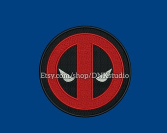 Deadpool Machine Embroidery Design - 6 Sizes - INSTANT DOWNLOAD