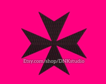 Maltese Cross Embroidery Design - 6 Sizes - INSTANT DOWNLOAD