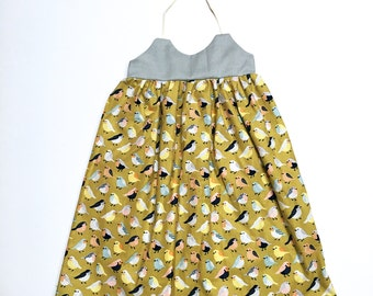 Bird Dress, Cotton Dress, Halter Dress, Summer Dress, Spring Dress, Baby Girl Dress, Baby Dress, Toddler Dress, Girls Dress, Birdie Dress