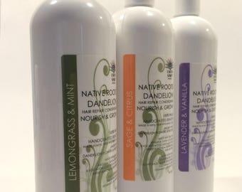 Dandelion NATIVE ROOTS Hair Repair Conditioner, Avocado, Jojoba, Argan, Castor, Almond, Grapeseed, Olive, Shea Butter