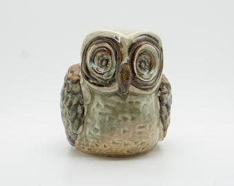 Søholm Figurine OWL Design MAGGI EDSBOCKER 639 Danish Design Stoneware Soholm Bornholm Denmark Decoration Art Pottery Mid Century Edsbøcker