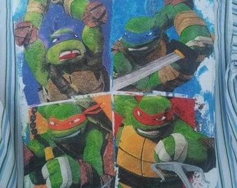 Upcycled Teenage Mutant Ninja Turtles dress shirt, Boys Gymboree, size 6