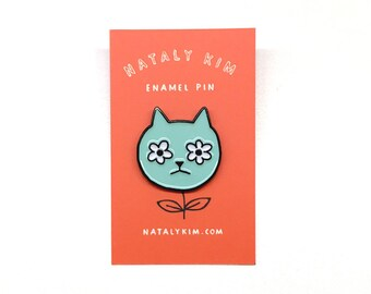 CAT FLOWER Enamel pin