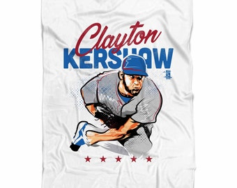 Clayton Kershaw Star B Los Angeles D Fleece Blanket MLBPA Officially Licensed