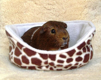 Guinea pig cuddle cup | giraffe print | personalized pet bed | cage accessories | bunny | chinchilla | ferret | hedgehog  MADE TO ORDER