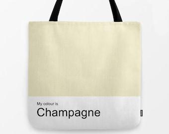 Champagne women tote bag, shoulder bag,school bag,shopping bag,tote,hand bag,canvas bag,colour bag,colour tote,woman bag