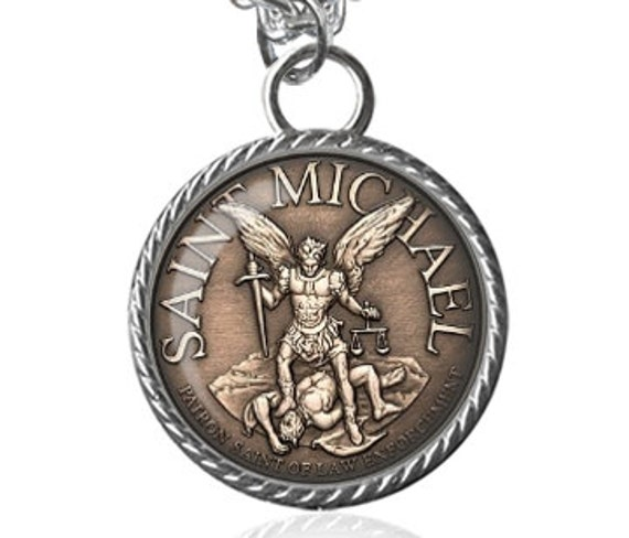 St Michael Necklace Police Officer Protection Patron Saint