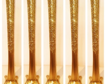 "Set of 5 - 20"" tall tower vase, gold tower vases, glitter tower vase,tall cylinder vases, metallic gold ,metallic silver,wedding centerpiece"